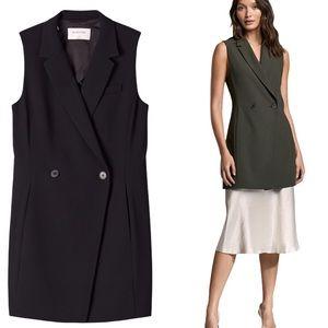 ARITZIA BABATON Blazer Vest Black Size 4